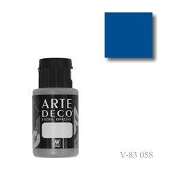 Синий настоящий 058 ArteDeco, акриловая декоративная краска