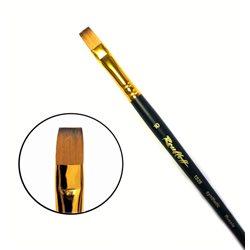 Кисть синтетика плоская №10 кор. ручка колонок имит. Roubloff 1S25