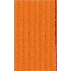 Картон цв. гофриров. крупный 175г/м 200 х 70 см/ оранжевый
