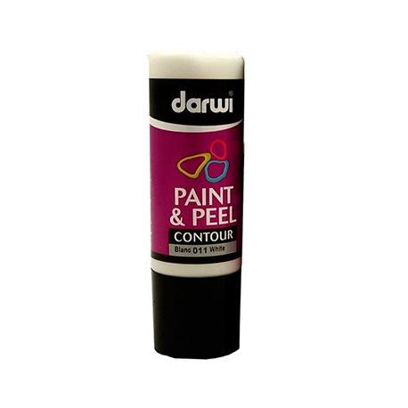 Краска контурная трансфертная Paint & Peel/ Белая 80 мл