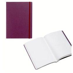 Ноотбук фиолетовый с резинкой А5, 80 листов 85 г/м2
