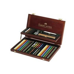 Набор ART & GRAPHIC Collection Faber Castell в дер. пенале 54 предмета