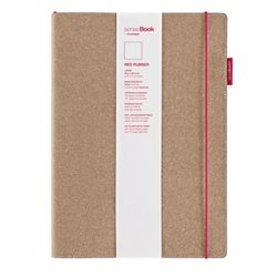 Блокнот в клетку SenseBook Red Rubber L/ 20,5х28,5 см/ A4, 158 страниц