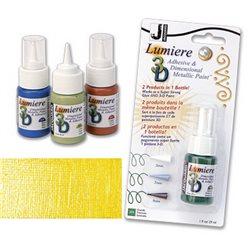 Краска-клей Lumiere 3D,солнечно-желтый
