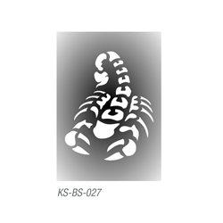 """Трафарет для тату """"Скорпион"""" 7х10 см"""