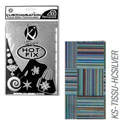 Пленка цветная для создания термопереносимого декора на ткань/ Серебряные квадраты ,15х20 см