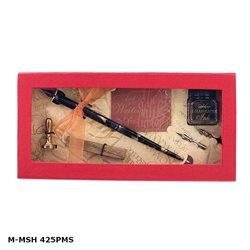 Подарочн.набор для письма (перья, чернила) и создания печатей (воск, печать)