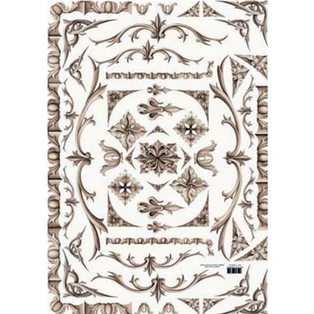 Декупажная карта (50х70 см), тема Орнамент (уголки,бордюры)