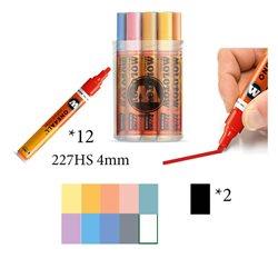 Набор маркеров Molotow 227HS Пастель, 12 цв х 4мм