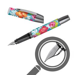 Перьевая ручка Campus Тропический цветок, для левшей