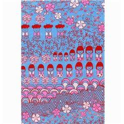 Бумага для техники DECOPATCH 30х40 / Розово-голубой орнамент