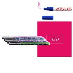 Карминовый. Акриловый маркер DARWI Acryl Opak 1мм