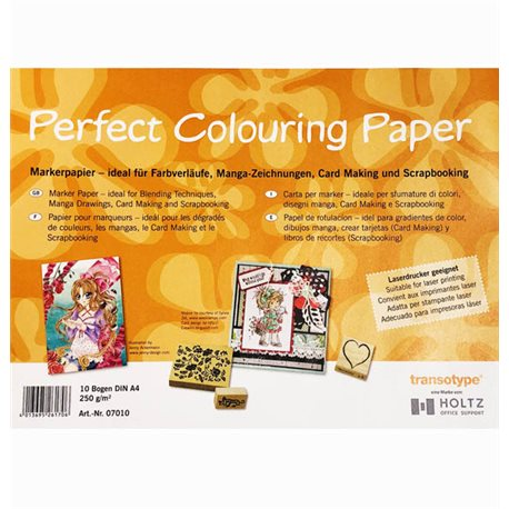Бумага Perfect Colouring А4 для маркеров 10л., 250 г/м