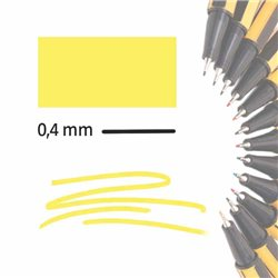 Маркер-лайнер ЖЕЛТЫЙ extra-fine 0,4 мм/ на водн.основе