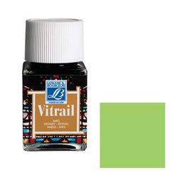 """Краска лаковая прозрачная по стеклу Lefranc Bourgeois """"Vitrail"""" №556 Зелёный светлый/б.50мл"""