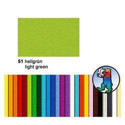 Картон цветной 50*70 Зеленый светлый / 300 гр/м