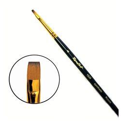 Кисть синтетика плоская №4 кор. ручка колонок имит. Roubloff 1S25