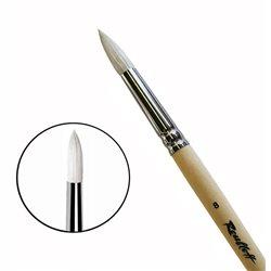 Кисть Синтетика+щетина круглая удл. № 8удл.ручка