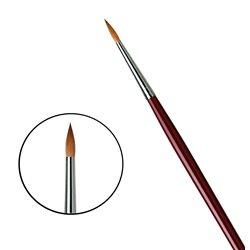 Кисть круглая Da Vinci 1610/красный колонок/дл. ручка/№8