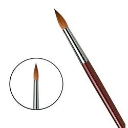 Кисть круглая Da Vinci 1610/красный колонок/дл. ручка/№24