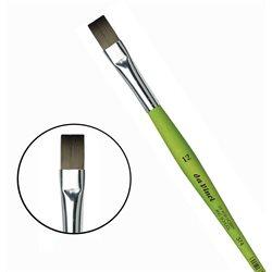 Синтетика плоская №12 /короткая зелен.ручка