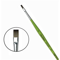 Синтетика плоская №4 /короткая зелен.ручка