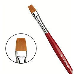 Синтетика плоская коричневая COSMOTOP-SPIN №10 /короткая красная ручка