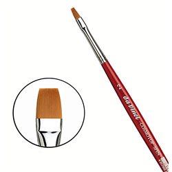 Синтетика плоская коричневая COSMOTOP-SPIN №2 /короткая красная ручка