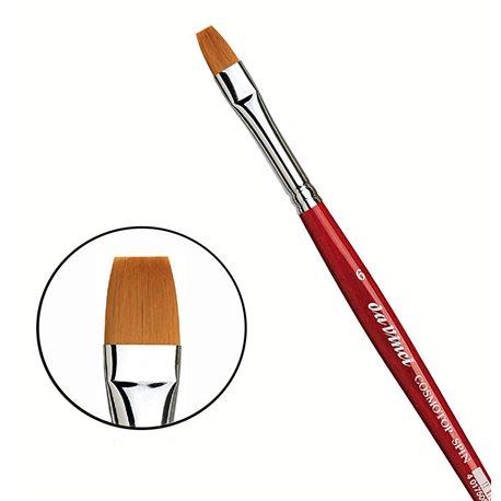 Синтетика плоская коричневая COSMOTOP-SPIN №6 /короткая красная ручка
