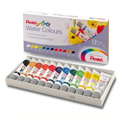 Акварель Pentel Water Colours 12 цв.