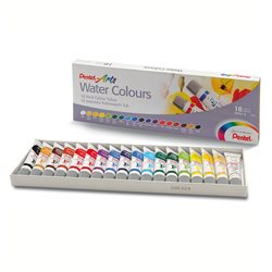 Акварель Pentel Water Colours, 18 цветов