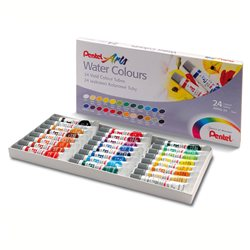 Акварель Pentel Water Colours, 24 цвета