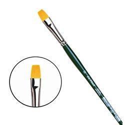 Синтетика плоская №12/зелен.ручка