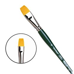 Синтетика плоская №16/зелен.ручка