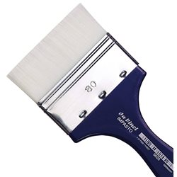 Кисть флейц Da Vinci 5025 IMPASTO/белая синтетика/экстра упругая/№80
