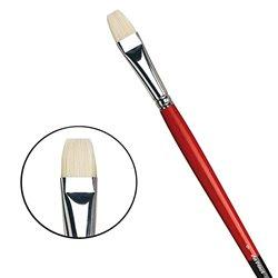 Плоская щетина №9 ( длин. черно-красная ручка)