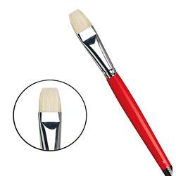 Плоская щетина №12 ( длин. черно-красная ручка)