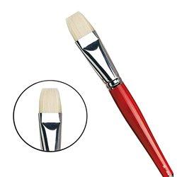 Плоская щетина №16 ( длин. черно-красная ручка)