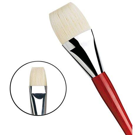 Плоская щетина №30 ( длин. черно-красная ручка)