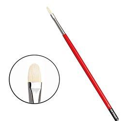 Овальная щетина № 2 ( длин. черно-красная ручка)