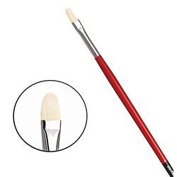 Овальная щетина № 4 ( длин. черно-красная ручка)