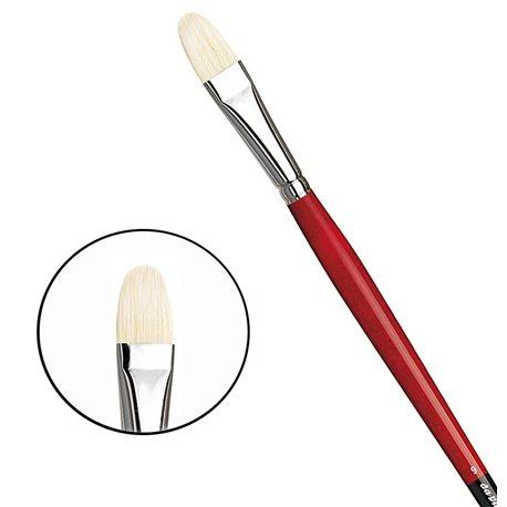 Овальная щетина № 9 ( длин. черно-красная ручка)