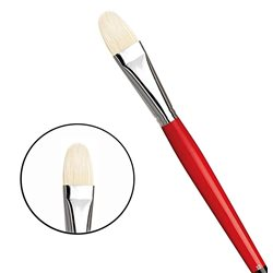 Овальная щетина №12 ( длин. черно-красная ручка)