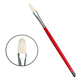 Овальная щетина № 5 (длин. черно-красная ручка)