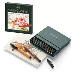 Капиллярная ручка PITT ARTIST PEN, набор 12 шт., в коробке (кожзам)