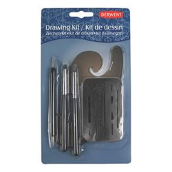 Набор инструментов для рисования, блистер / Лекало, ластики, тиснение, 5 пред.