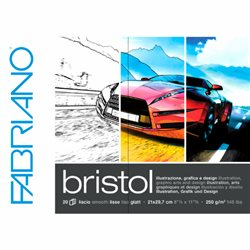 Блок бумаги Bristol 20 л, 21 х 29.7, 250гр