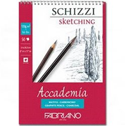 """Альбом д/графики """"SCHIZZI Accademia"""" 21х29,7см.50л 120г/спираль"""