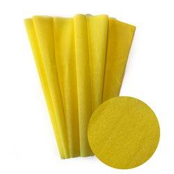 Бумага крепированная. 30 г/м2 , 200х50 см /Лимонная