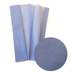 Бумага крепированная. 30 г/м2 , 200х50 см /Небесная голубая